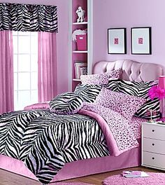 Zebra Bedding 6 or 8 Pieces Kids Comforter Set - jcpenney... MOMMMMMM @Lisa Phillips-Barton Phillips-Barton McMasters