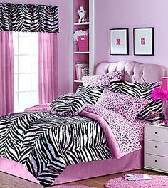 Zebra Bedding 6 or 8 Pieces Kids Comforter Set - jcpenney