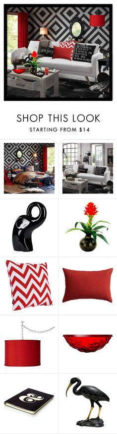 """""""Re-decorate this room! -contest"""" by julissag ❤ liked on Polyvore featuring interior, interiors, interior design, home, home decor, interior decorating, Josie Natori, Designs by Lauren, CB2 and Universal Lighting and Decor"""