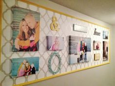 Do you have a gallery wall in your home?  stenciled gallery wall idea: http://blog.cuttingedgestencils.com/enhance-a-gallery-wall-with-stencils.html project via Aqua Lane Design  #cuttingedgestencils #stencils #stenciling #wallstencils #gallerywall #diy