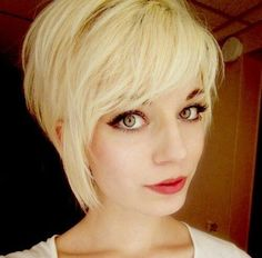 pixie haircuts with side long bangs for blonde