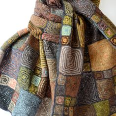 """Large merino wool scarf by Sophie Digard - """"OP"""""""