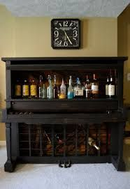 Image result for piano made into a wine bar