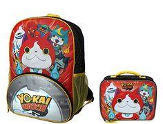 """Yo-Kai Watch Jibanyan Power 16"""" Backpack Set with Lunch B..."""