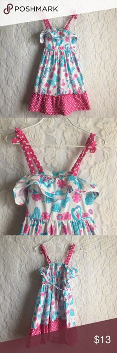 ASHLEY ANN Toddler Girls Dress Pink Spring Floral Perfect for upcoming spring! 💜 No flaws and it ties in the back Butterflies and flowers!  ::085 Ashley Ann Dresses
