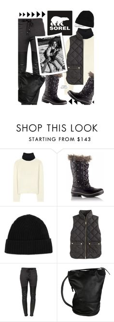 """""""Introducing the 2015 Winter Collection from SOREL: Contest Entry"""" by honii ❤ liked on Polyvore featuring Acne Studios, SOREL, Minnie Rose, J.Crew, Ragdoll, Andrea Incontri, contestentry and sorelstyle"""