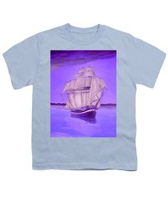 Purchase a youth t-shirt featuring the image of Fantasy Shade by Faye Anastasopoulou.  Available in sizes S - XL.  Each youth t-shirt is printed on-demand, ships within 1 - 2 business days, and comes with a 30-day money-back guarantee,   apparel, casual, outfit, wear, clothing, summer, blouse, designed, artistic, unique, blue,purple, boat, nautical, boys