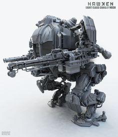 Hawken inspired mech - Light class combat mech by dropkick287