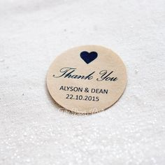 Thank You Wedding Stickers Personalised Names by ThePaperCrafterie