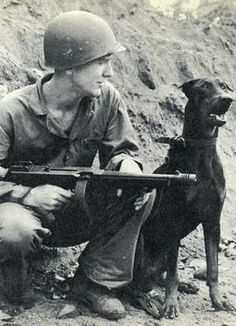 Soldiers with Pets