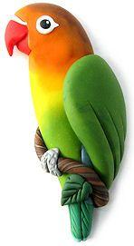 polymer clay bird - Google Search