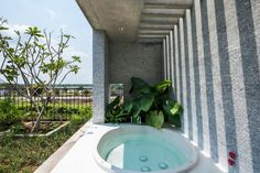 Vo Trong Nhia Architects, Binh House, vietnamese architecture, vietnamese home design, Ho Chi Minh City, Ho Chi Minh, Vietnam, green space, jungle homes, green interiors, garden space, vertical farming, sustainable materials, vertical farming, urban growth, home design, sustainable building, green design #verticalfarming