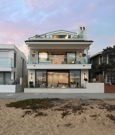 California Beach House Modern California Beach House Oceanfront California Beach… - Home Professional Decoration Casas California, California Homes, California Decor, California Beach Houses, Small Beach Houses, Dream Beach Houses, Modern Beach Houses, Style At Home, Facade Design