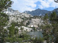 Lowest of the Treasure Lakes (10,668ft) in the high basin behind South Lake, at the head of the Sout…