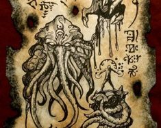 Items similar to cthulhu larp Gate of Yog Sothoth Necronomicon page occult horror witchcraft dark pagan on Etsy Necronomicon Lovecraft, Lovecraft Cthulhu, Hp Lovecraft, Art Cthulhu, Call Of Cthulhu, Cthulhu Tattoo, Deviant Art, Yog Sothoth, Lovecraftian Horror