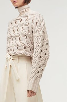 Fashion Solid Color Openwork Knit Sweater – The Best Ideas Cropped Pullover, Pullover Mode, Cropped Sweater, Knitwear Fashion, Knit Fashion, Sweater Fashion, Fashion Outfits, Color Fashion, Blazer Fashion