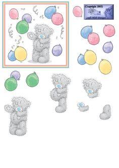 3D topper - birthday bear
