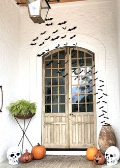One of our clients sent us a Fall update from their home's beautiful front porch featuring these spectacular restored vintage doors. Antique Windows, Antique Doors, Reclaimed Doors, Vintage Doors, Architectural Antiques, Decoration, Front Porch, Home Goods, Garage Doors