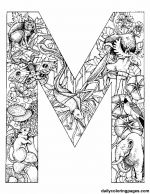 m animal alphabet letters to print art, coloriag alphabet, animal prints, coloring book pages, coloring books, alphabet animaux, printabl, alphabet letters to color, kid