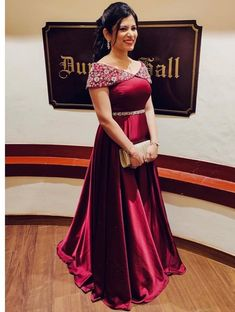 Whatsapp on 9496803123 to customise handwork and cutwork as per your requirements and budget. Gown Party Wear, Party Wear Indian Dresses, Indian Wedding Gowns, Indian Gowns Dresses, Evening Dresses, Wedding Dresses, Stylish Dress Designs, Stylish Dresses, Elegant Dresses