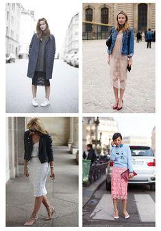 Кружевная юбка в повседневных комплектах
