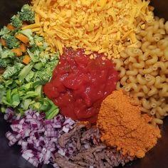 One pot pasta, cheesy taco, nem og lækker hverdagsret fra One Pot Pasta, Pasta Noodles, Broccoli, Spaghetti, Tacos, Crafts, Diy, Food, Noodles