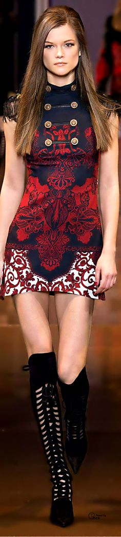 Versace Fall 2014 Dress Unique Style Inspiration Apparel Clothing Design #UNIQUE_WOMENS_FASHION