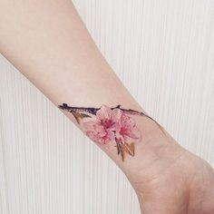 #cherryblossomtattoo… for wrist