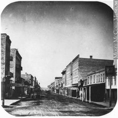 Dundas Street, London, ON, about 1860 William Notman (1826-1891)  Silver salts on paper mounted on card - Albumen process