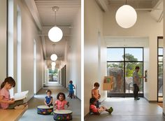 AEC - Architecture of Early Childhood: A centre in Chicago which offers children a chance to interact first-hand with the world Classroom Design, Early Childhood, Centre, Chicago, Environment, Young Children, Hallways, Architecture, Play