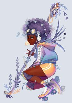 Sorry for the absence! I got mass spambotted on some posts and in dms, and it took a while to clean up 😫 Gonna leave this portrait here for… Black Girl Cartoon, Black Girl Art, Black Women Art, Art Girl, Black Art, Black Cartoon Characters, Black Girls, Black Girl Aesthetic, Aesthetic Art