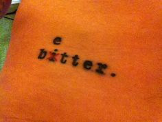 A brilliant tattoo that Butch Walker has