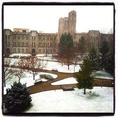 Butler university in winter