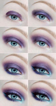 Bachelorette parties gorgeous makeup purple make up Blue Eyeshadow Looks Bachelorette Gorgeous Makeup parties Purple Purple Eye Makeup, Makeup For Brown Eyes, Mermaid Eye Makeup, Ariel Makeup, Mermaid Makeup Tutorial, Goth Makeup Tutorial, Purple Hair, Makeup Inspo, Makeup Inspiration