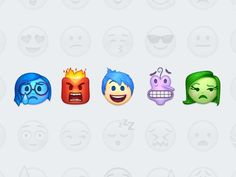 Inside out characters as emojis