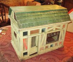 OLD-CHRISTIAN-HACKER-SCHWARTZ-GERMAN-ENGLISH-DOLL-HOUSE-DOLLHOUSE-SHOP-STORE-TOY