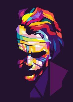 Jesus Christ Pop Art Painting Contemporary Christian Artwork Designs Multi Color Wall Art for Modern Decor Ready to Hang(One Panel Joker Images, Joker Pics, Joker Art, The Joker, Joker Batman, Gotham Batman, Batman Robin, Joker Kunst, Batman Kunst