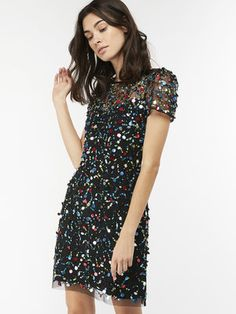 Buy Monsoon Black Agnes Sequin Tunic Dress from the Next UK online shop Sequin Tunic, Monsoon Dress, Made Clothing, Embellished Dress, Ethical Fashion, Mannequin, Curvy Fashion, Sustainable Fashion, Cool Outfits