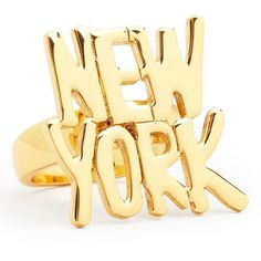 kate spade new york Darcel New York Ring (62 CAD) ❤ liked on Polyvore featuring jewelry, rings, accessories, anillos, bague, gold, kate spade, enhancer ring, kate spade ring et kate spade jewelry