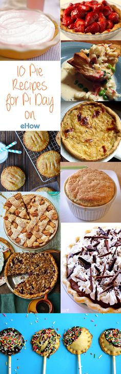 What better way to celebrate Pi Day then with  a pie... or 10? Recipes you need to check out!