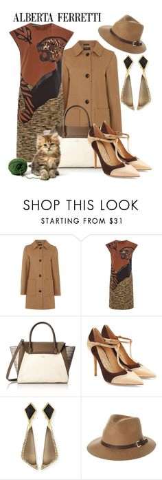 """Animal Print"" by hastypudding ❤ liked on Polyvore featuring Gloverall, Alberta Ferretti, Vince Camuto, Salvatore Ferragamo, Alexis Bittar, Rusty, animalprint, fashionset and estyle"