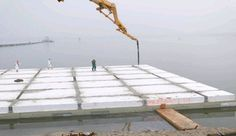 Floating Foundations / Bases - Coastal Engineering - Amphibious Housing / expanded polystyrene (EPS foam)
