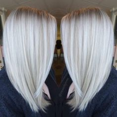 Platinum-White-Blonde-Balayage-Straight-Shoulder-Length-Haircut-2017 » New Medium Hairstyles