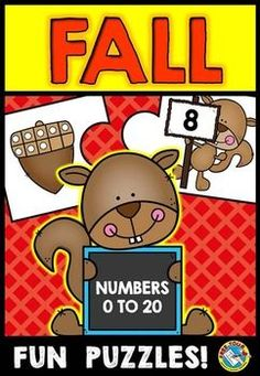 #FALL #TEN #FRAMES #PUZZLES (#NUMBERS 0-20): #MATCH TEN FRAME TO #NUMERAL