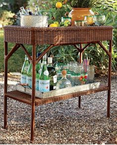 cute wicker bar console http://rstyle.me/n/ivxyzr9te