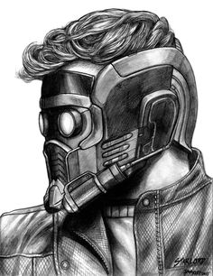 marvel drawings Star-Lord (Guardians of the Galaxy) by Marvel Avengers, Marvel Fan Art, Marvel Heroes, Marvel Characters, Comic Kunst, Comic Art, Broly Ssj4, Iron Man Drawing, Galaxy Drawings