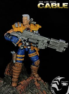 Cable (classic) (Marvel Legends) Custom Action Figure by Leech2 Base figure: Hyperion