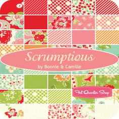 Scrumptious Yardage Bonnie & Camille for Moda Fabrics  Scrumptious Yardage will be $10.75 per yard.  Expected shipment date of October 2013.
