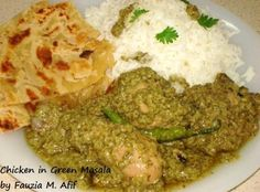 MADE Chicken in Green Masala -used 2 boneless breast, substituted sour cream for cream. Used little over 1 tbsp lemon juice, bunch kotm. Meat Recipes For Dinner, Veg Recipes, Curry Recipes, Kitchen Recipes, Cooking Recipes, Recipies, Gourmet Cooking, Cream Recipes, Delicious Recipes