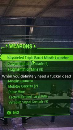 Me: I wonder what happens if I shoot a radroach with this...